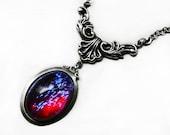Victorian Necklace - Dragon Breath Cameo Choker