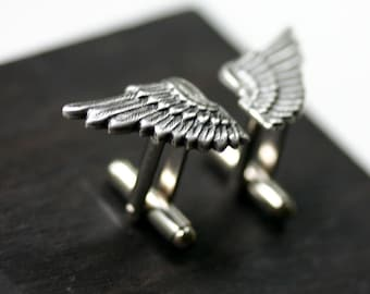 Silver Angel Wing Cufflinks