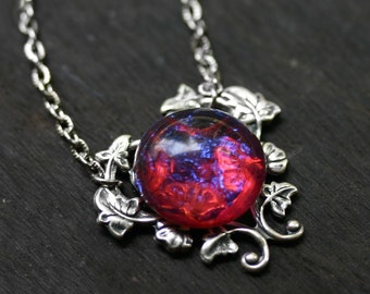 Dragons Breath Fire Opal Necklace