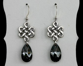 Love Eternal Celtic Knot Drop Earrings