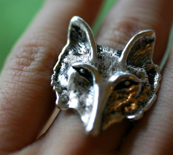 Fox Ring in Silver