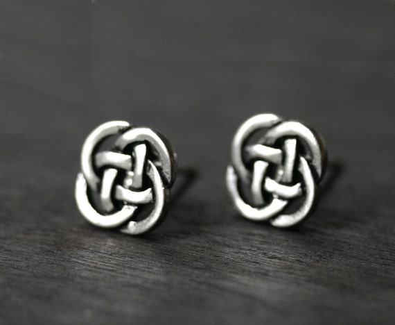 Celtic Earrings - Eternity Love Knot Studs