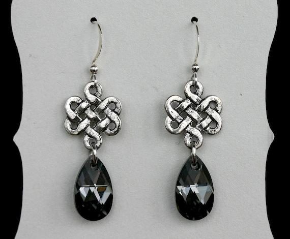 Love Eternal Celtic Knot Drop Earrings