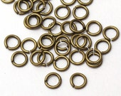 100 pcs Antiqued Brass Open Ring Connector, Jump Rings Jumpring 6mm, C5-004p