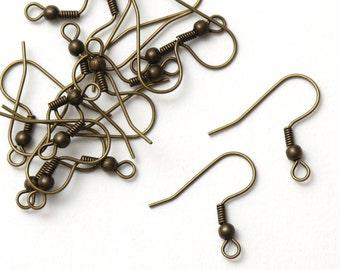500 pcs (250 pairs) Brass Earwires Ear wires, Bulk Wholesale, Earring Hook, Fish Hook Earrings, Ear Hook, French Hook Earrings, A1-003