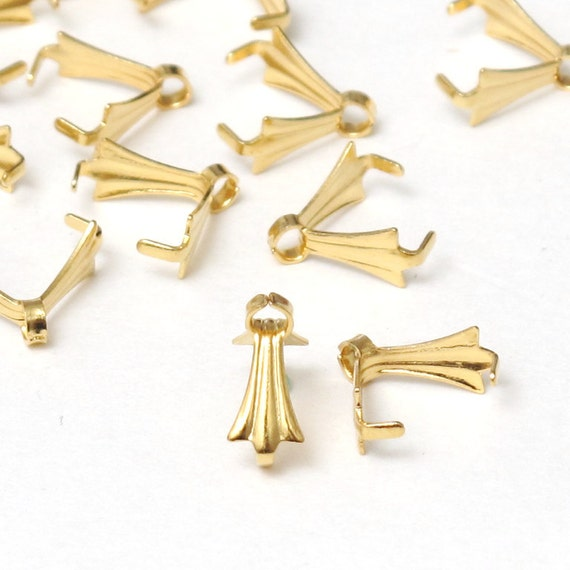 500 pcs gold jewelry bail pendant bail clasp by