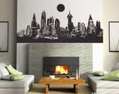 gotham city batman city Vinyl Wall Decal Art