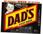 Dad's Root Beer Vintage Label, 1960's