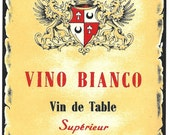 Vino Bianco Table Wine Label