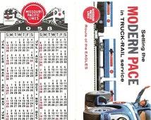 Modern Pace in Truck-Rail Missouri Pacific Pocket Calendar, 1958