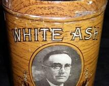 White Ash H.E. Snyder Vintage Cigar Tin, 1920s