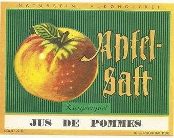 Antel-Salt jus de Pommes Vintage Label, 1930's