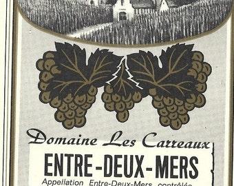 Entre-deux-mers ( White Wine ) Label, 1930's