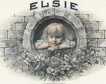 Elsie Inner Vintage Cigar Label, 1930's