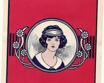 Gorgeous Maid Vintage Broom Label 1940's