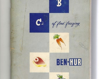 Vintage First Edition The ABC's of Food Freezing by Ben Hur, 1953