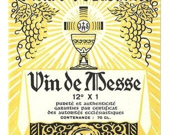 European Vin de Messe Wine Label