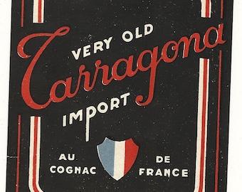 French Cognac Vintage Label, 1950s