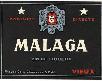 Malaga vin de Liqueur Label