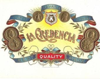 LaCredencia Spector Bros. Cigar Label, 1930s