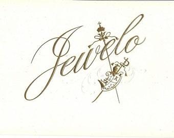 Jewelo Vintage Cigar Label, 1930s