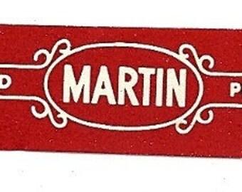 Martin Mild Perfecto Vintage Cigar Band, 1920s
