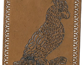 Antique McLoughlin Bros Parrot Stencil, 1828-1920