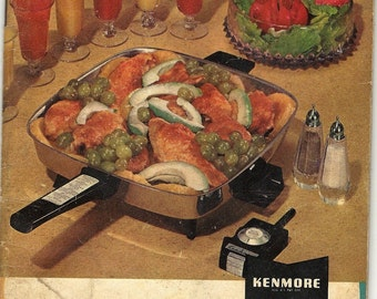 Kenmore Stainless Steel Automatic Cookware Vintage Recipe Book, 1960s