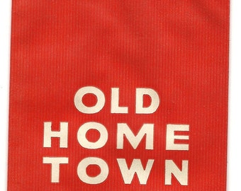 Old Home Town Vintage Cigar Cuttings Bag, 1930s