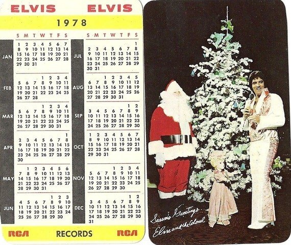 1978 Elvis Presley Pocket Calendar