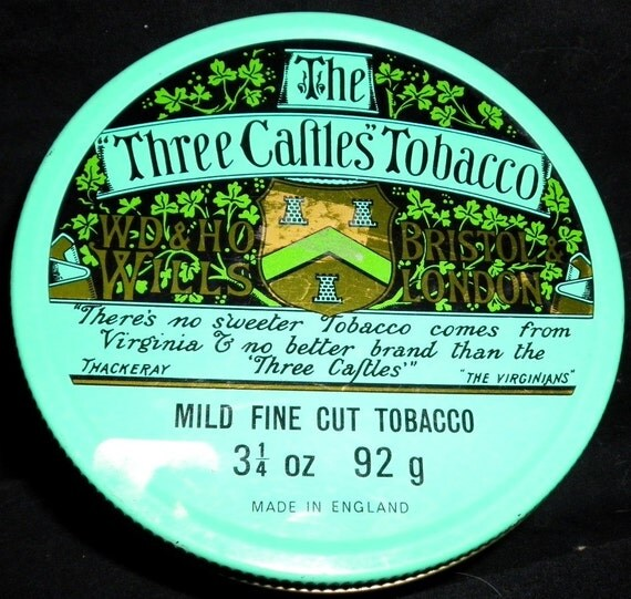 """The """"Three Caftles"""" Tobacco Tin"""