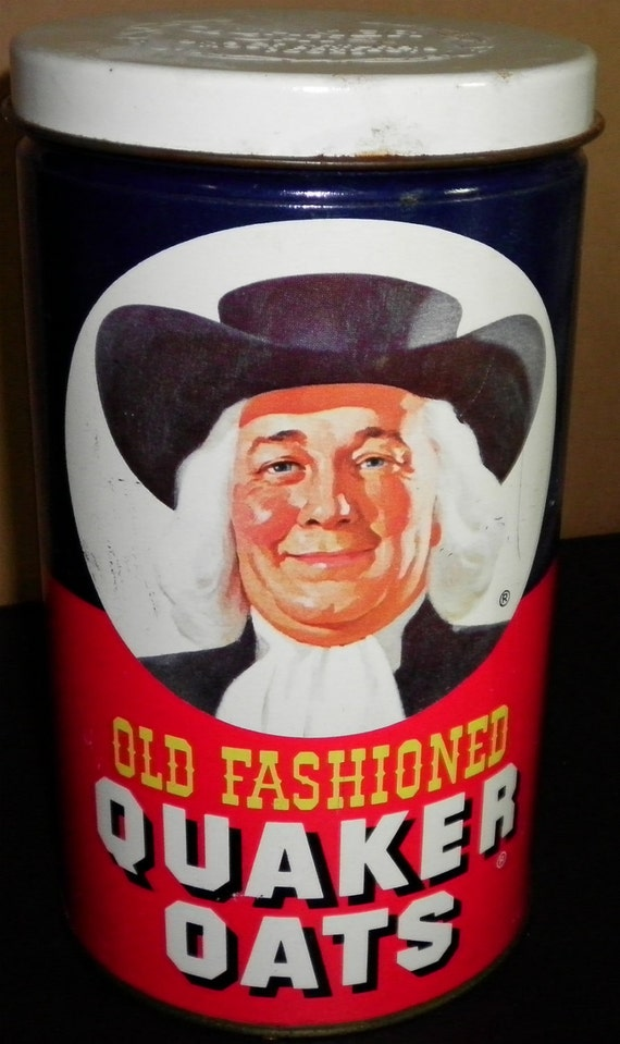 Old Fashioned Quaker Oats Tin, Limited Edition (empty), 1982
