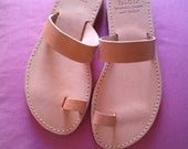SALE - 20% Greek leather sandals IN 37 SIZE