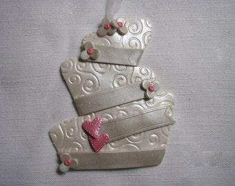 Modern Wedding Cake Ornament