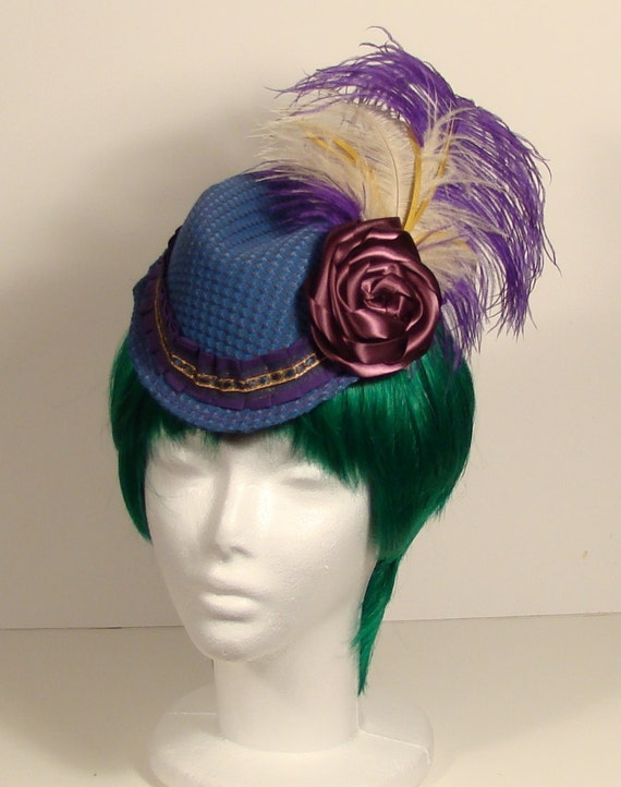 Blue and purple Steampunk ladies Cap
