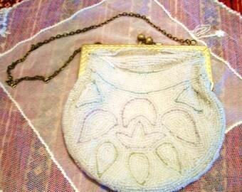 France Antique Vintage Beaded  Purse/Handbag