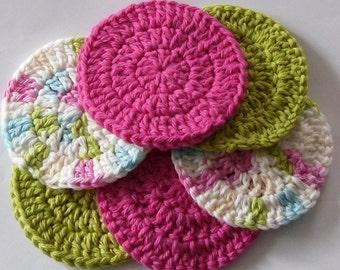 Round Cotton Scrubbers