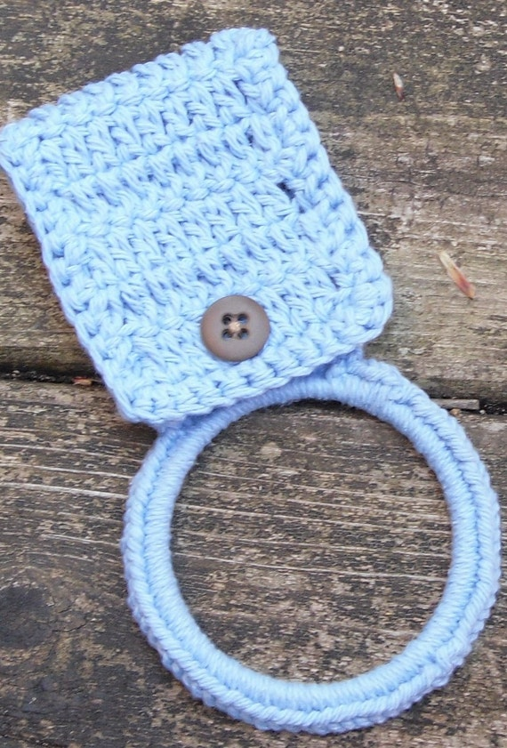 Crochet Kitchen Towel Holder by KayaLuCreations on Etsy