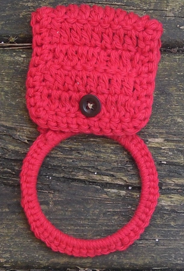 Knitting Patterns Holders For Towels : Crochet Kitchen Towel Holder