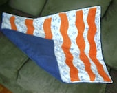 Bath mat, Recycled Materials, Blue and Orange