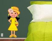 Reusable Cute Hispanic Magali Lemonade GIrl Character Wall Decal  -KS
