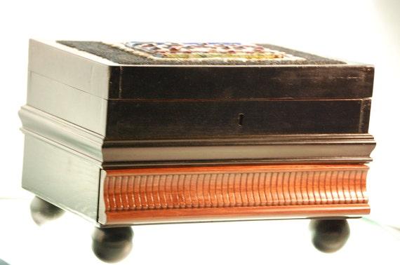 Wooden Jewelry Decorative Box w/ Hidden Compartments