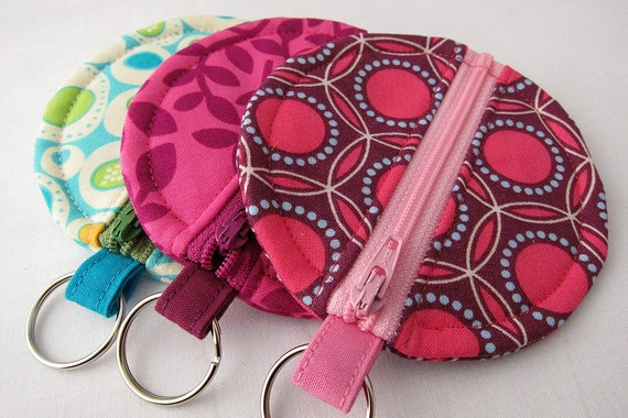 Rosary or Earbud Circle Zipper Pouch - Joel Dewberry or Park Slope