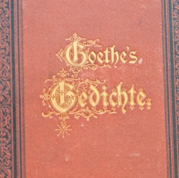 Goethe's Gedichte- 1879 edition