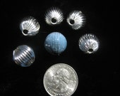 Iron Beads STARBURST silver colored torch fire bead torch firing 5 pieces