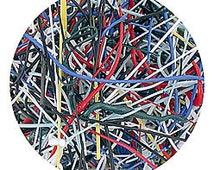 Cat Whiskers, Opaque Enamel Threads, Eight color mix, one ounce