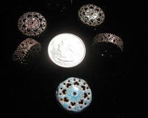 Iron Beads PIN CUSHION copper colored torch fire bead torch firing 5 pieces