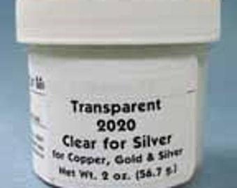 CLEAR FOR SILVER 2020 transparent Enamel 2 ounce jar