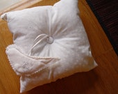 Ring bearer Pillow with Dove Ornament-Personalized