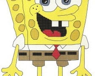 Spongebob Squarepants counted Cross Stitch Pattern